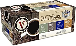Flavored & Unflavored Coffee Variety Pack for K-Cup® Keurig 2.0® Brewers, 96 Count Victor Allen's Coffee® Single Serve Coffee Pods