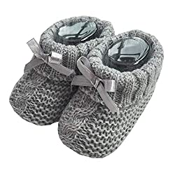Baby Boys/Girls 1 Pair Knitted Booties with Bows