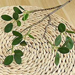Fake green eucalyptus can add texture and green to any classic or romantic decoration design, creating a bright and comfortable natural appearance for your room. Make your home more natural and vigorous The lifelike artificial green stems looks like ...