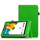 Fintie Odys Connect 7 Pro/Connect 7 Hülle Case - Slim Fit Folio Premium Kunstleder Schutzhülle Cover Tasche mit Ständerfunktion für Odys Connect 7 Pro/Odys Connect 7 17,8 cm (7 Zoll) Tablet-PC, Grün