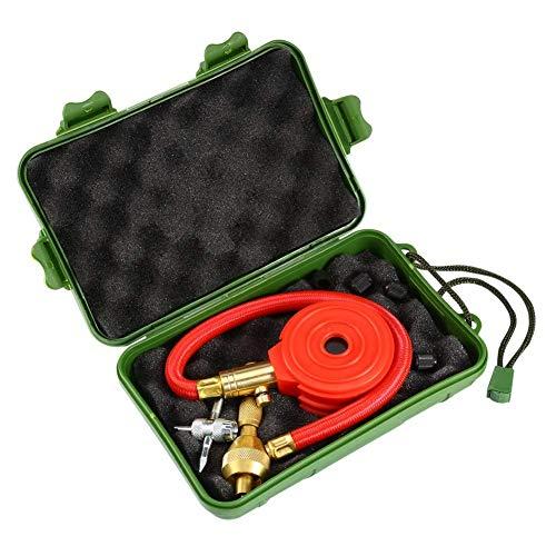 Vehículo de motor Coche Camión Bicicleta Van Neumático Neumático Medidor de presión de aire Medidor de dial Probador Rojo