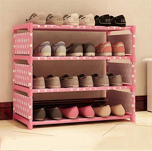 CRYPCP Multilayer Schuhregal Schuhbank Ideal für Eingangsbereich Flur Badezimmer Wohnzimmer und Flur,Pink