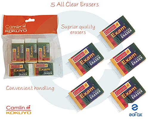 5 x CLASSMATE Quality Jumbo Non-Dust Pencil Erasers School Office Home Nursery
