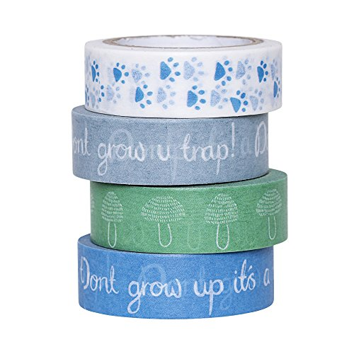 Bloomingville Tape, blau, Papier, 4er Set