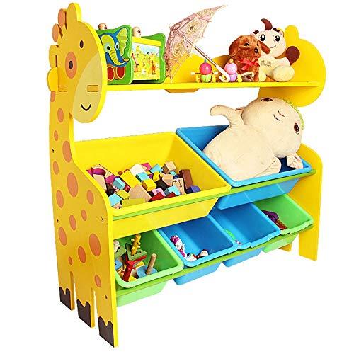 Liuxiaomiao-Home Support de Rangement pour Jouets Toy Bin Organizer Kids Playroom Bedroom Shelf Drawer Box de Rangement for Enfants (Couleur : Jaune, Taille : Small)