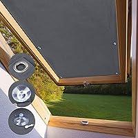 KINLO Protección Solar térmica para Ventanas detecho Protección térmica para Interiores sin taladrar y sin Pegamento Gran selección para Ventanas Velux F06 y 206-48 x 93cm - Gris