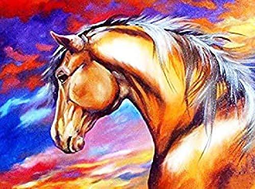 ZEIO Grote dierenpuzzel, 1000 stukjes Houten puzzels voor volwassenen, DIY Home Decor Puzzelsets Speelgoed Spelletjes Cadeaus voor kinderen Kinderen Volwassenen - Paard