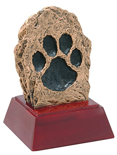 Decade Awards Paw Print Sculpture Trophy