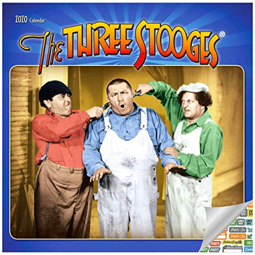 The Three Stooges Calendar 2020 Three Stooges Vaudeville Wall Calendar Bundle with Over 100 Calendar Stickers