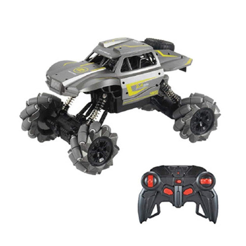 標準適応肘おもちゃの車のワイヤレス電動リモコンカー ワイヤレス電動リモートコントロールドリフトスタントカー2.4G四輪駆動の高速オフロード車/ジェスチャーセンサーカー おもちゃの車の子供の誕生日プレゼントの多機能リモコンカー (Color : Gray, Size : Remote control)