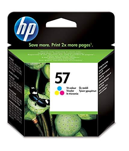 HP 57 C6657AE, Cartucho de Tinta Original, Tricolor, compatible con impresoras de inyección de tinta HP Deskjet 5550, Photosmart 7350, 7150, 7345, Officejet 6110, 5110