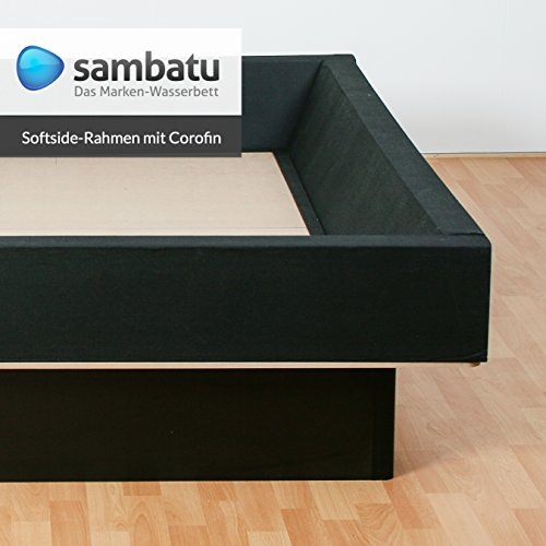 sambatu Schaumrahmen Schaumkeil für Softside Wasserbett mit Corofinummantelung 4-Teil (160x200)
