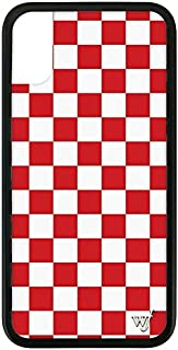 Wildflower Limited Edition iPhone Case for iPhone X and XS (Red Checkered)