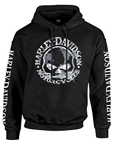 Harley-Davidson Men's Sweatshirt Willie G Skull H-D Pullover Black 30296648