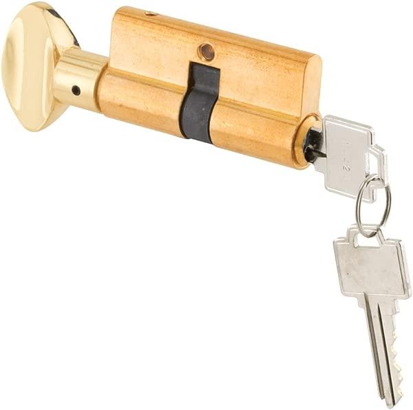 Prime Line 产品 K 5062 关键圆筒 W Thumbturn 实心黄铜结构抛光黄铜表面处理