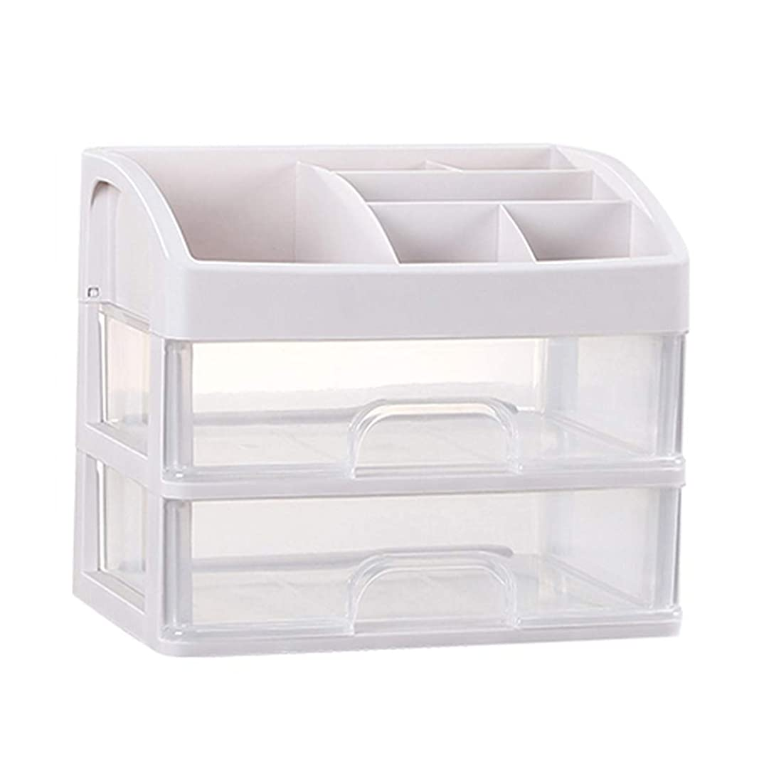 破壊同じあいまいさKKY-ENTER プラスチックシンプル化粧品収納ボックス透明引き出しタイプ口紅ジュエリースキンケア製品収納ディスプレイボックス (サイズ さいず : 23.3*17*20.2cm)
