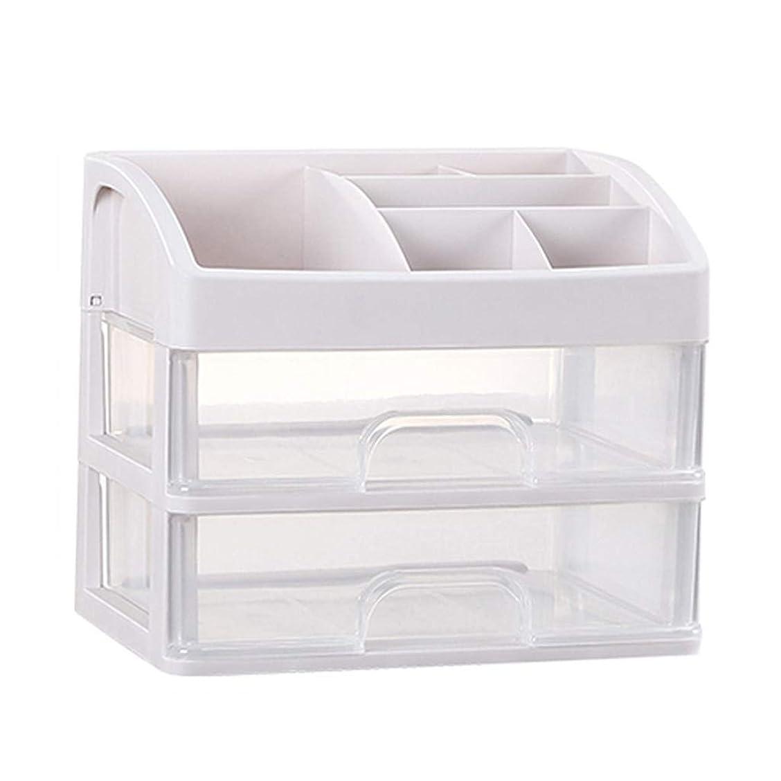 溶かす洞察力適合KKY-ENTER プラスチックシンプル化粧品収納ボックス透明引き出しタイプ口紅ジュエリースキンケア製品収納ディスプレイボックス (サイズ さいず : 23.3*17*20.2cm)