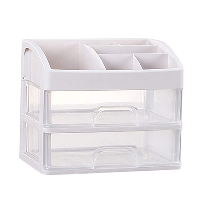 値十億密度KKY-ENTER プラスチックシンプル化粧品収納ボックス透明引き出しタイプ口紅ジュエリースキンケア製品収納ディスプレイボックス (Size : 23.3*17*20.2cm)