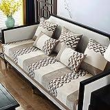 Couch-abdeckungen,Schonbezug,Schonbezüge Möbelschutzfolie,All-inclusive non-slip sofa covers for living room,thin plaid sofa cushion for fabric sofa,chenille 4 seasons-E_45*45cm_Pillowcase_Without_cor