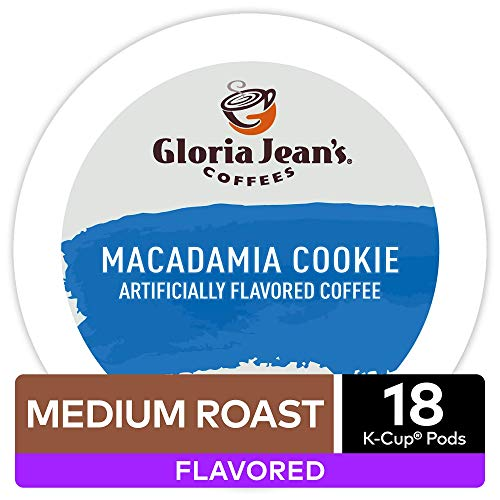 Gloria Jean's Macadamia Cookie Flavored Coffee - 18 K-cups for Keurig Brewer (Pack of 2)