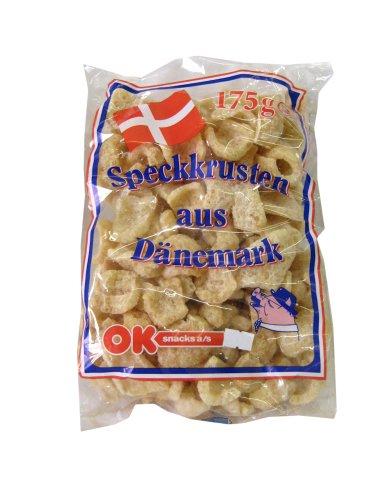 OK - Speckkrusten aus Dänemark - Chicharon / Tsitsaron / Chicharrón, 1er Pack ( 1 x 150 g)