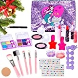 MEIRUIER 23pcs Kit de Maquillaje Niñas,Juguetes para Chicas, Cosméticos Lavables, Regalo de...