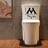 WOCACHI Wall Stickers Decals Ministry of Magic of This Way Bathroom Doors Decoration Wall Stickers Wall Art Mural Wallpaper Peel & Stick Removable Room Decoration Nursery Decor