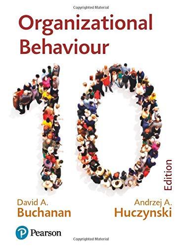 HucBuc: Organizational Behaviour: Buchanan and Huczynski