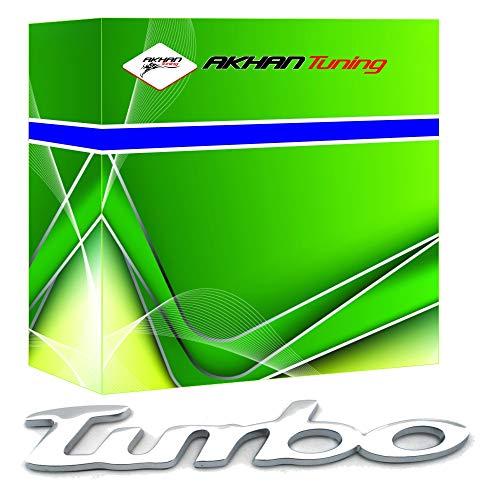 3D07202 - Chrome 3D emblème de la voiture auto adhésif logo caractères (3M auto-adhésif) TURBO