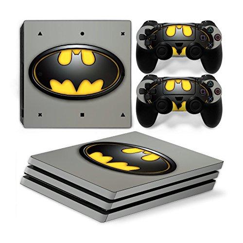 Funky Planet Playstation 4 Pro PS4 PRO Adesivi per pelli in PVC per console e pastiglie - Ridimensionare il tuo PS4 Pro (batman)