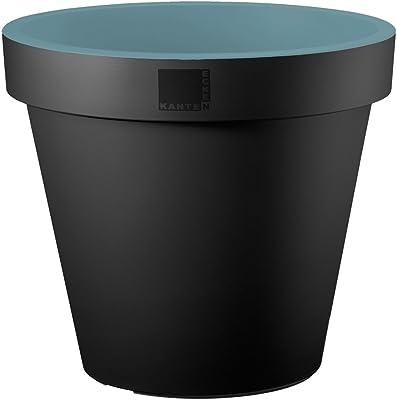 Dehner–Vaso da fiori, Trendy, Ø 35cm, altezza 31cm, plastica, colore: antracite/verde