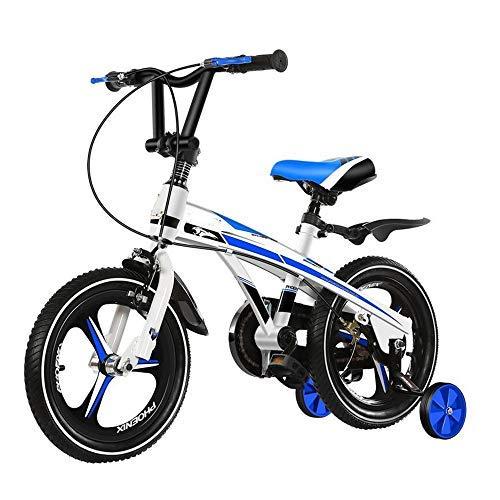 YSA Kinderfahrrad Jungen Mädchen Mädchen Fahrrad 14 16 18 Zoll, Kinder Kinderfahrrad Verbreiterte Verdickung Offroad-Reifen , Kinderfahrräder mit Stützrad und Stoßdämpfer , 2-8 Geschenkfahrrad