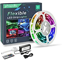 Phopollo 16.4ft RGB Color Changing LED Strip Lights