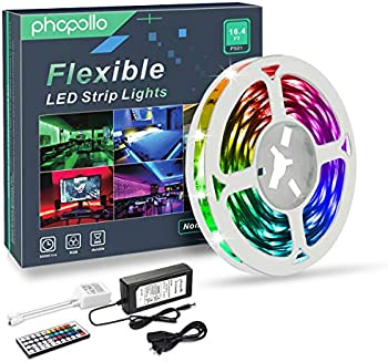 Phopollo 16.4ft RGB Color Changing LED Strip Lights