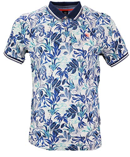 LERROS Herren Poloshirt 2953220 wollweiß Allover Blumenprint (XL)
