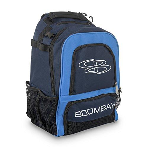 Boombah Wonderpack Baseball/Softball Bat Backpack - 13' x 8' x 20' - Navy/Columbia - Holds 4 Bats and Large Main Compartment