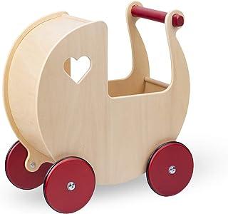Moover ドールズプラム 乳母車【ナチュラル】 人形遊び お母さんごっこ 手押し車 ベビーカー ワゴントイ 木製 知育玩具 ままごと 北欧デザイン おしゃれ 対象年齢 2歳以上 組立済 完成品