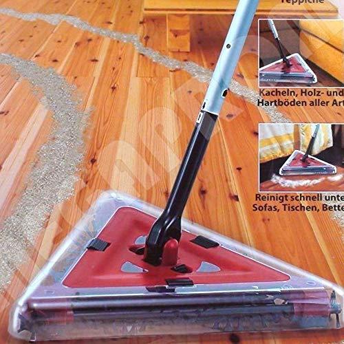 FLEXI SWEEPER 360° Akku-Kehrbesen | Kehrmaschine mit 3 tlg. Bürstensystem | Akkubesen | Bodenkehrer | Staubsauger - Beutellos