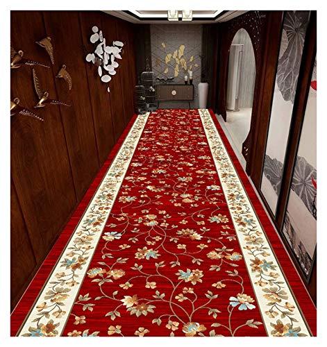 DITAN XIAWU Alfombra Decorativa para El Hogar Alfombra De Puerta De Entrada Corredor Entrada Se Puede Cortar (Color : Red, Size : 90x600cm)