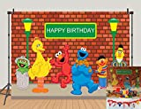 MC 5x3ft Sesame Street Brick Wall Photography Backdrops Birthday Party Decoration Photo Booth Background Baby Shower Studio Props Vinyl