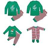 tabpole famiglia corrispondenza natale pigiama set per uomini donne bambino bambino natale elfo pigiameria da notte verde 3-4 anni