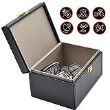Todoxi Faraday Box Car Key Fob Protector RFID Box for Keys Large PU Leather RFID Signal Blocking Car Security Proection Box