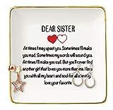 Dear Sister - Ceramic Jewelry Holder Ring...