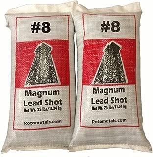 Magnum Lead Shot #8 50 pounds 2-25 Pound Bags …