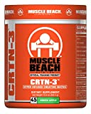 Muscle Beach Nutrition Flavored CRTN-3 Creatine Powder - Intense Energy and Improved Workout Performance - Creatine Supplement for Men & Women - 45 Servings (Green Apple)