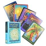 The Psychic Tarot Oracle Cards Chapado en Oro Full English Friends Playing Family Party Juego de Mesa Tarjetas de Regalo