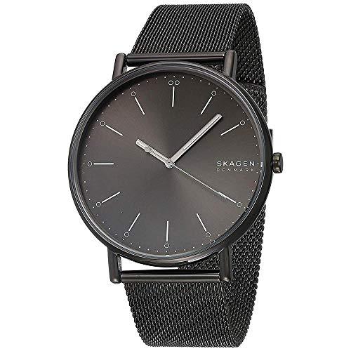Skagen Herren Analog Quarz Uhr mit Edelstahl Armband SKW6549