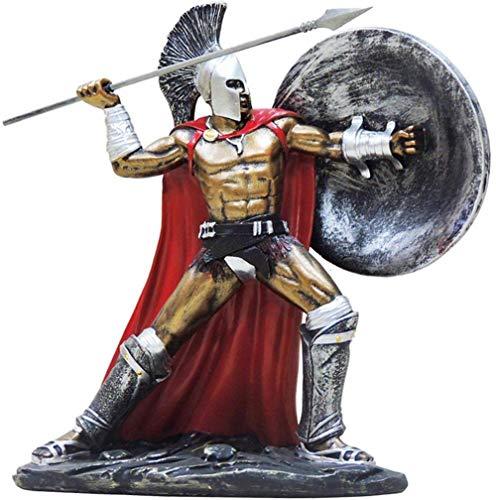 AIJOAN-BJ Skulpturen Statuen Dekoration Römische Krieger Statue Antike Römische Gladiator Krieger Statue Skulptur Ornament Alte Krieger Modell H9 8 Zoll