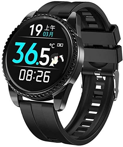 Pantalla a color Bluetooth pulsera inteligente impermeable deportes pulsera señoras deportes reloj reloj inteligente silicona negro