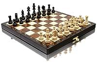Bellissimo set di scacchi MAGNETICO in legno, gioco di scacchi con figure magnetizzate, gioco classico artigianale ... (medio 28 cm) #1